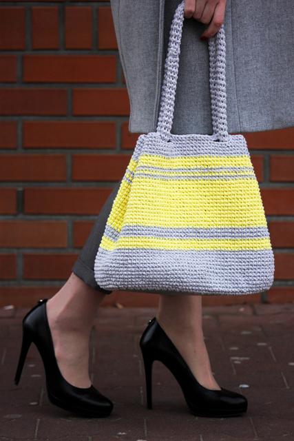 siwa torba z żółtymi pasami2