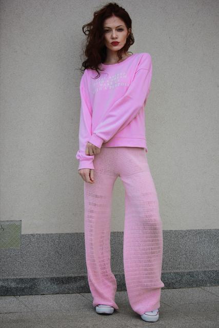 spodnie róż2